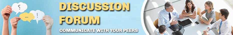Communicate with your peers through Discussion Forum
